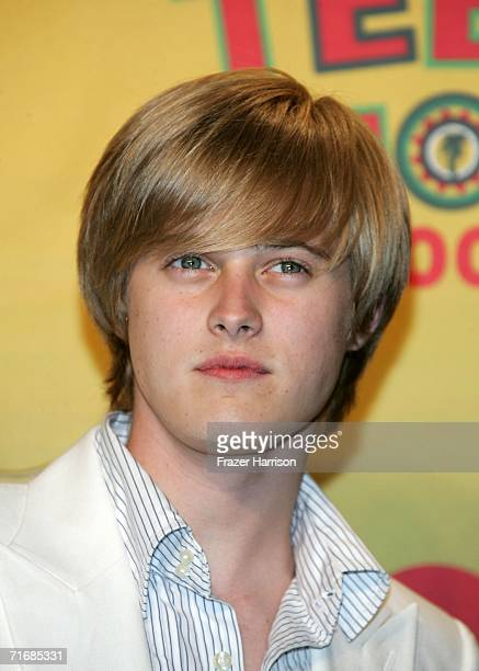 Actor Lucas Grabeel poses in the press room at the 8th Annual Teen Choice Awards at the Gibson Amphitheatre on August 20, 2006 in Universal City,...