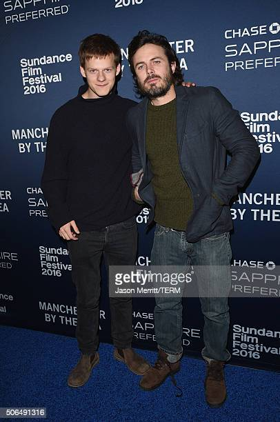Actor Lucas Hedges and Casey Affleck attend the Official Premiere Party for 'Manchester By The Sea' hosted by Chase Sapphire Preferred at Chase...