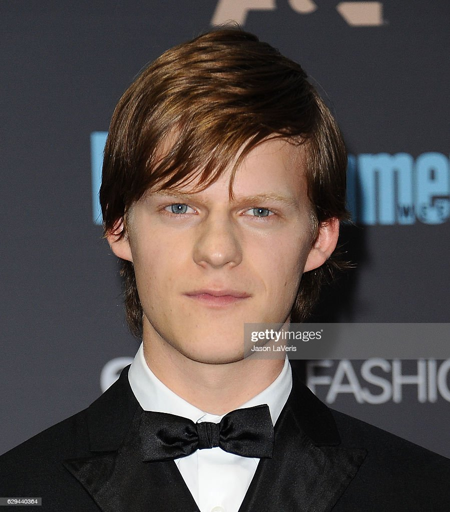 Actor Lucas Hedges poses in the press room at the 22nd annual Critics' Choice Awards at Barker Hangar on December 11, 2016 in Santa Monica, California.