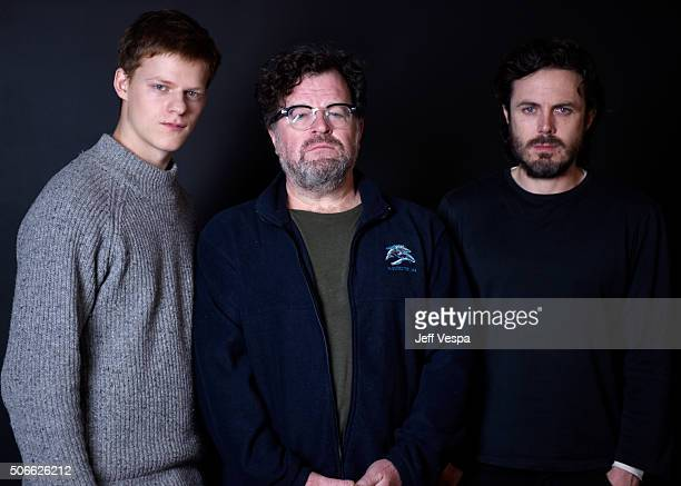 Actor Lucas Hedges writer/director Kenneth Lonergan and actor Casey Affleck from the film 'Manchester by the Sea' pose for a portrait during the...