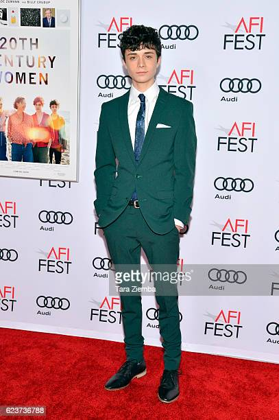 """Actor Lucas Jade Zumann attends a tribute to Annette Bening and gala screening of A24's """"20th Century Women"""" at AFI Fest 2016, presented by Audi at..."""