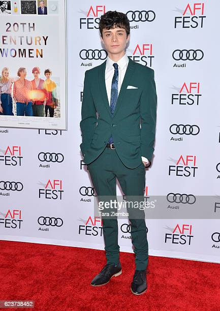 Actor Lucas Jade Zumann attends a tribute to Annette Bening and gala screening of A24's 20th Century Women at AFI Fest 2016 presented by Audi at The...
