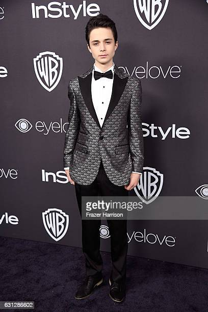 Actor Lucas Jade Zumann attends the 18th Annual Post-Golden Globes Party hosted by Warner Bros. Pictures and InStyle at The Beverly Hilton Hotel on...