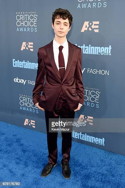Actor Lucas Jade Zumann attends The 22nd Annual Critics' Choice Awards at Barker Hangar on December 11, 2016 in Santa Monica, California.