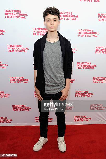 Actor Lucas Jade Zumann attends the red carpet of 20th Century Women screening during the Hamptons International Film Festival 2016 at Guild Hall on...
