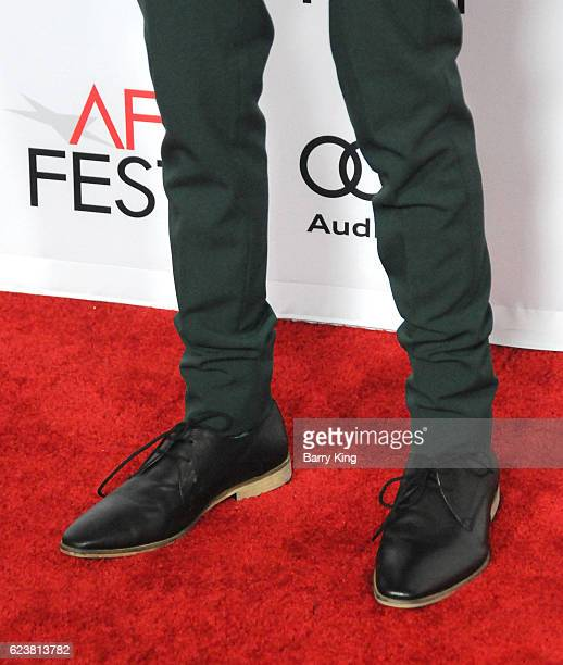 Actor Lucas Jade Zumann, shoe detail, attends AFI FEST 2016 Presented By Audi - A Tribute To Annette Bening And Gala Screening Of A24'd '20th Century...