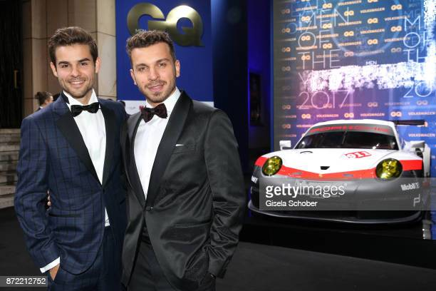 Actor Lucas Reiber and actor Edin Hasanovic arrives for the GQ Men of the year Award 2017 at Komische Oper on November 9 2017 in Berlin Germany