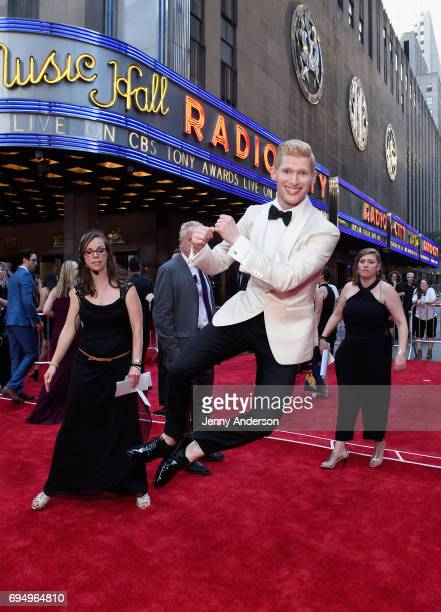 Actor Lucas Steele attends the 2017 Tony Awards at Radio City Music Hall on June 11 2017 in New York City