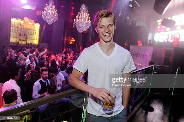 Actor Lucas Till celebrates his birthday at the Chateau Nightclub & Gardens at the Paris Las Vegas on August 12, 2011 in Las Vegas, Nevada.