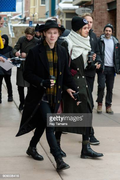 Actor Lucian Charles Collier walks in Park City on January 22 2018 in Park City Utah