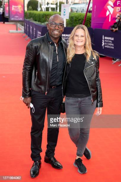 Actor Lucien JeanBaptiste and Aurelie Nollet attend the ADN Premiere at the 46th Deauville American Film Festival on September 11 2020 in Deauville...