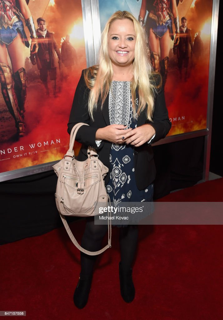 Actor Lucy Davis attends the Warner Bros. Home Entertainment and Intel presentation of 'Wonder Woman in the Sky' at Dodger Stadium on September 14, 2017 in Los Angeles, California.