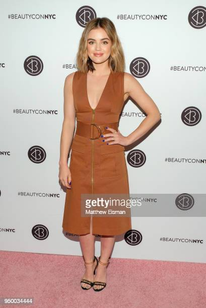 Actor Lucy Hale attends Beautycon Festival NYC 2018 Day 2 at Jacob Javits Center on April 22 2018 in New York City