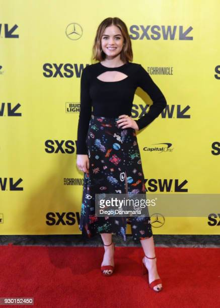 Actor Lucy Hale attends the premiere of 'The Unicorn' during SXSW at Stateside Theater on March 10 2018 in Austin Texas