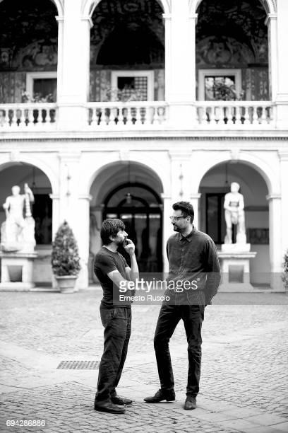 Actor Luigi Lo Cascio and Gabriele Tinti read 'Rovine' by Gabriele Tinti at Palazzo Altemps on June 9 2017 in Rome Italy