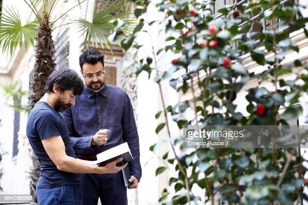 Actor Luigi Lo Cascio and writer Gabriele Tinti read 'Rovine' by Gabriele Tinti at Palazzo Altemps on June 9 2017 in Rome Italy