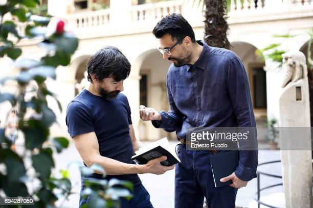 Actor Luigi Lo Cascio and writer Gabriele Tinti read 'Rovine' by Gabriele Tinti at Palazzo Altemps on June 9 2017 in Rome Italy