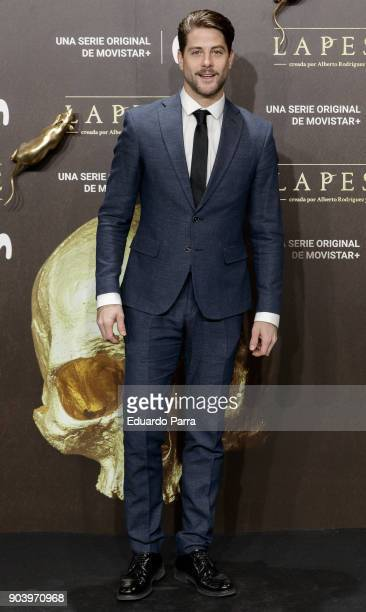 Actor Luis Fernandez attends the 'La peste' premiere at Callao cinema on January 11 2018 in Madrid Spain