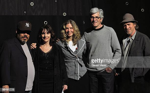 Actor Luis Guzman filmmaker Bette Gordon actress Sandy McLeod cinematographer John Foster and actor Will Patton attend a panel after the special...