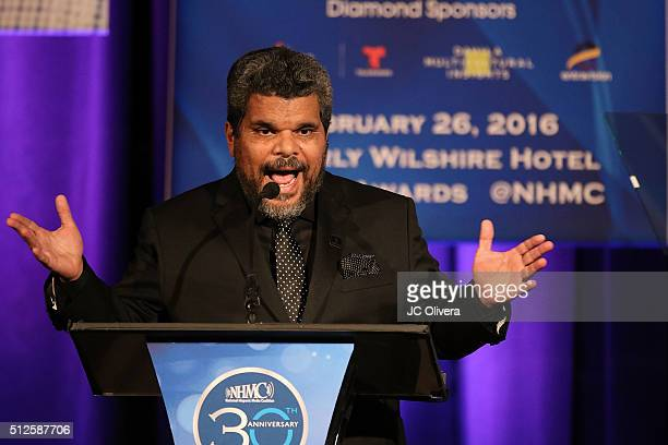 Actor Luis Guzman onstage during the 19th Annual National Hispanic Media Coalition Impact Awards Gala at Regent Beverly Wilshire Hotel on February 26...