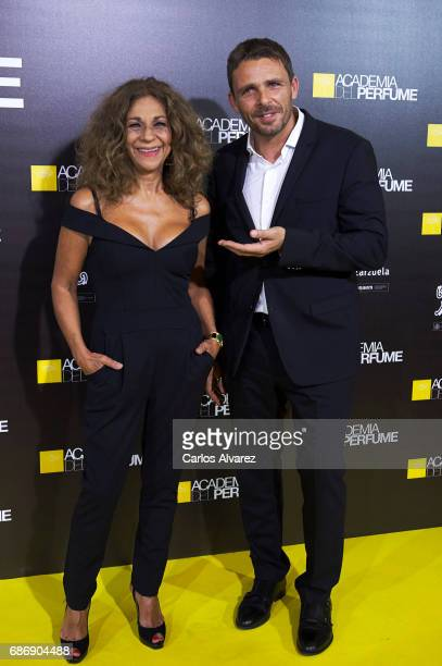 Actor Luis Mottola and singer Lolita Flores attend the 'Academia del Perfume' awards 2017 at the Zarzuela Teather on May 22 2017 in Madrid Spain