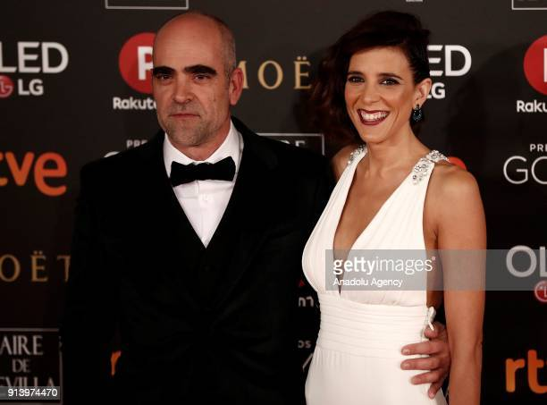 Actor Luis Tosar and his friend Maria Luisa Mayol attend the 32th edition of the Goya Awards ceremony in Madrid Spain on February 04 2018