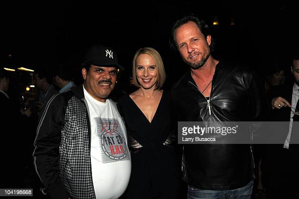 Actor Luiz Guzman actress Amy Ryan and actor Dean Winters attend the after party following the premiere of Overture Films' Jack Goes Boating at New...