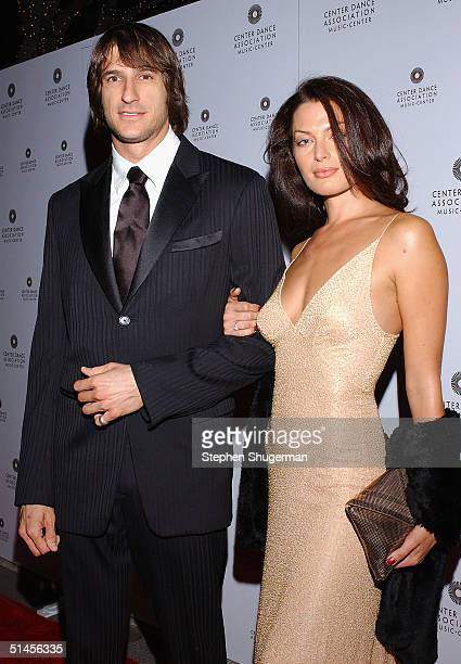 Actor Lujan Quinn and model Amanda Tosch attend the New York City Ballet Gala at the Dorothy Chandler Pavilion on October 8 2004 in Los Angeles...