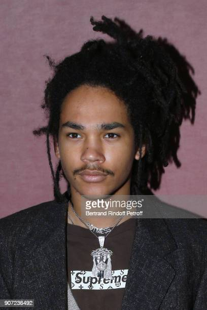 Actor Luka Sabbat attends the Berluti Menswear Fall/Winter 20182019 show as part of Paris Fashion Week on January 19 2018 in Paris France