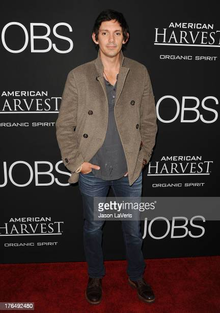 """Actor Lukas Haas attends the premiere of """"Jobs"""" at Regal Cinemas L.A. Live on August 13, 2013 in Los Angeles, California."""
