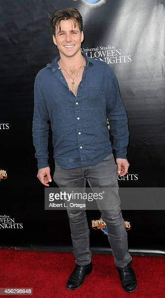 Actor Lukas Nelson arrives for Universal Studios Hollywood Halloween Horror Nights Kick Off With The Annual Eyegore Awards held at Universal Studios...
