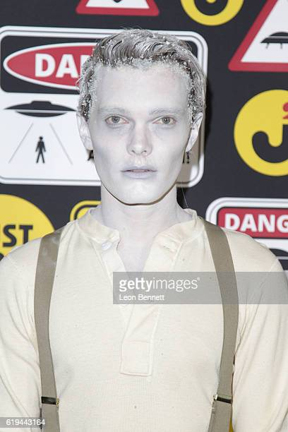 Actor Luke Baines arrives at the Just Jared's Annual Halloween Party - Arrivals at Tenants of the Trees on October 30, 2016 in Los Angeles,...