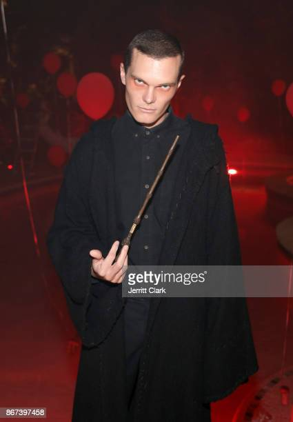 Actor Luke Baines attends Just Jared's 6th Annual Halloween Party on October 27, 2017 in Beverly Hills, California.