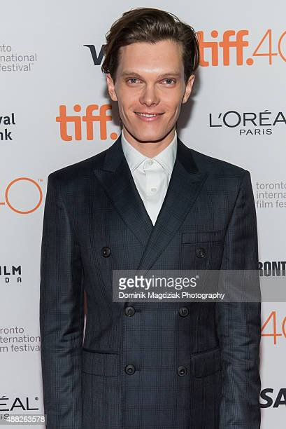 Actor Luke Baines attends 'The Girl In The Photographs' photo call during the Toronto International Film Festival at the Ryerson Theatre on September...