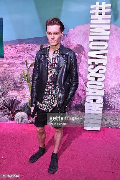 Actor Luke Baines attends the H&M Loves Coachella Pop UP at The Empire Polo Club on April 15, 2016 in Indio, California.
