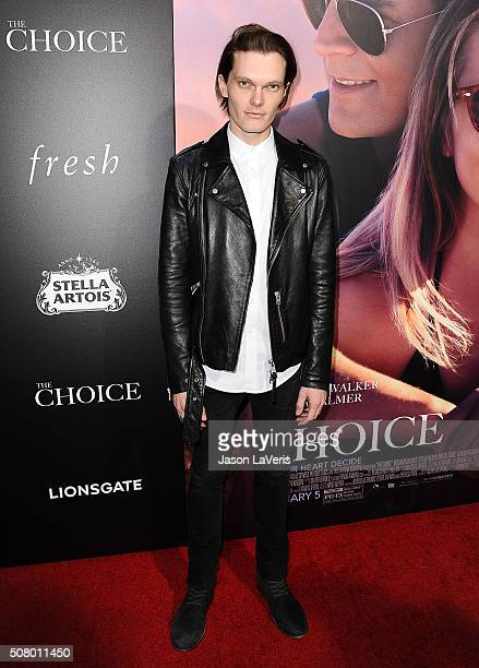 "Actor Luke Baines attends the premiere of ""The Choice"" at ArcLight Cinemas on February 1, 2016 in Hollywood, California."