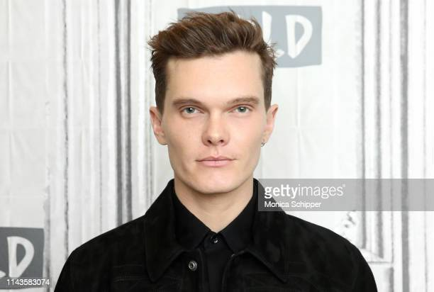 "Actor Luke Baines visits Build Brunch to discuss the television show ""Shadowhunters"", at Build Studio on April 18, 2019 in New York City."