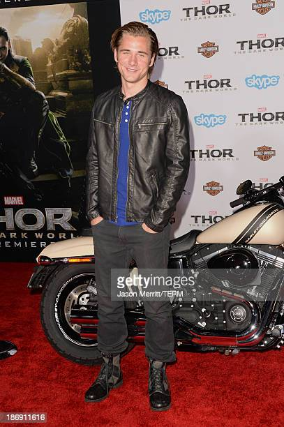 Actor Luke Benward arrives at the premiere of Marvel's Thor The Dark World at the El Capitan Theatre on November 4 2013 in Hollywood California