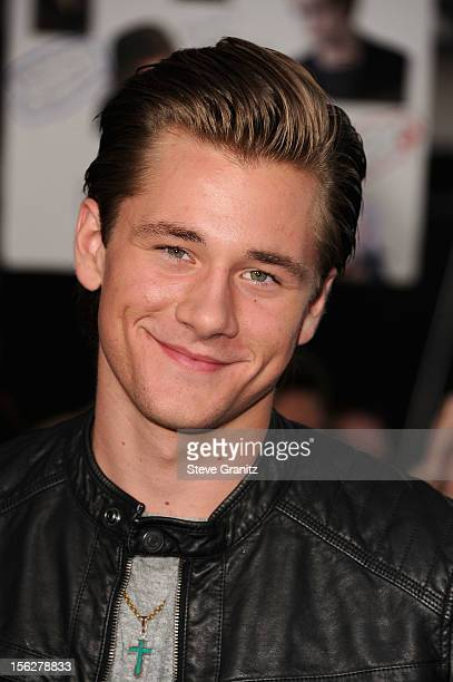 Actor Luke Benward arrives at The Twilight Saga Breaking Dawn Part 2 Los Angeles premiere at Nokia Theatre LA Live on November 12 2012 in Los Angeles...