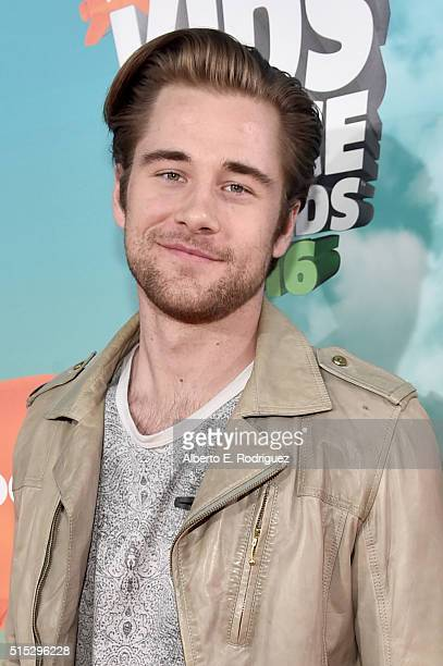 Actor Luke Benward attends Nickelodeon's 2016 Kids' Choice Awards at The Forum on March 12 2016 in Inglewood California