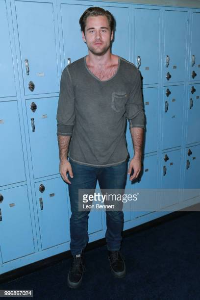 Actor Luke Benward attends the Screening Of A24's Eighth Grade Arrivals at Le Conte Middle School on July 11 2018 in Los Angeles California