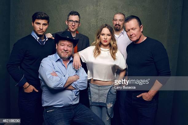 "Actor Luke Bilyk, director Bruce McDonald, writer Pascal Trottier, actress Chloe Rose, producer Paul Lenart and actor Robert Patrick of ""Hellion""..."