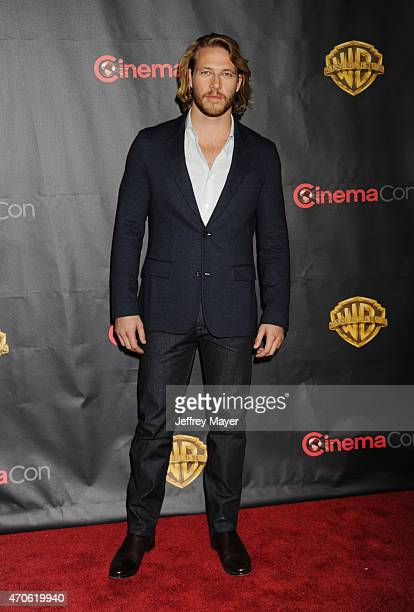 Actor Luke Bracey arrives at Warner Bros Pictures The Big Picture at The Colosseum at Caesars Palace during CinemaCon the official convention of the...