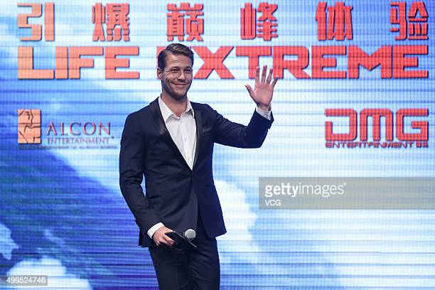 Actor Luke Bracey attends 'Point Break' premiere on December 1 2015 in Beijing China
