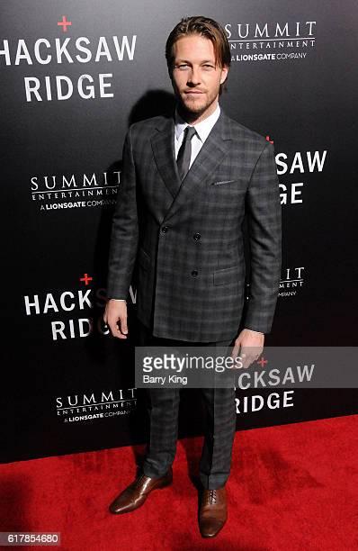 Actor Luke Bracey attends screening of Summit Entertainment's 'Hacksaw Ridge' at Samuel Goldwyn Theater on October 24 2016 in Beverly Hills California