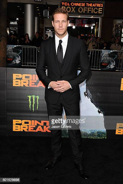 Actor Luke Bracey attends the premiere of Point Break at TCL Chinese Theatre on December 15 2015 in Hollywood California