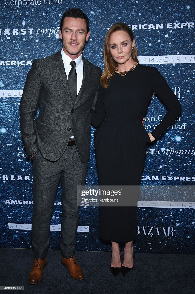 Actor Luke Evans and fashion designer Stella McCartney attend 2014 Women's Leadership Award Honoring Stella McCartney at Alice Tully Hall at Lincoln Center on November 13, 2014 in New York City.