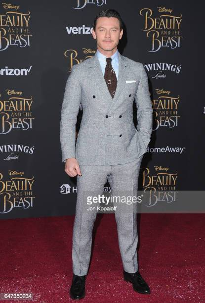 Actor Luke Evans arrives at the Los Angeles Premiere 'Beauty And The Beast' at El Capitan Theatre on March 2 2017 in Los Angeles California