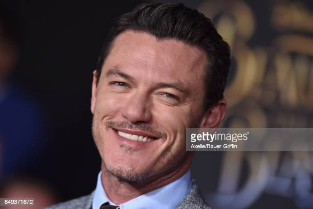 Actor Luke Evans arrives at the Los Angeles Premiere of 'Beauty and the Beast' at El Capitan Theatre on March 2 2017 in Los Angeles California
