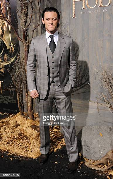 Actor Luke Evans arrives at the Los Angeles premiere of The Hobbit The Desolation Of Smaug at TCL Chinese Theatre on December 2 2013 in Hollywood...